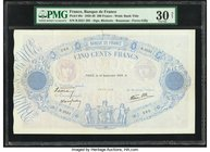 France Banque de France 500 Francs 14.9.1939 Pick 88c PMG Very Fine 30 Net. Repaired.  HID09801242017