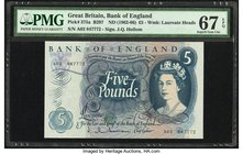 Great Britain Bank of England 5 Pounds ND (1962-66) Pick 375a PMG Superb Gem Unc 67 EPQ.   HID09801242017