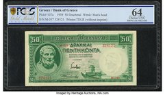 Greece Bank of Crete 50 Drachmai 1.1.1939 Pick 107a PCGS Gold Shield Choice UNC 64.   HID09801242017