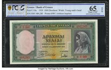 Greece Bank of Greece 1000 Drachmai 1.1.1939 Pick 110a PCGS Gold Shield Gem UNC 65 OPQ.   HID09801242017