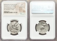 MACEDONIAN KINGDOM. Alexander III the Great (336-323 BC). AR tetradrachm (26mm, 17.01 gm, 12h). NGC XF 5/5 - 3/5. Late lifetime to early posthumous is...