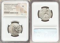 MACEDONIAN KINGDOM. Alexander III the Great (336-323 BC). AR tetradrachm (26mm, 6h). NGC XF. Late lifetime to early posthumous issue of Tyre, under Me...