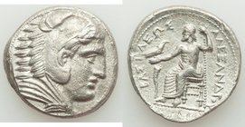 MACEDONIAN KINGDOM. Alexander III the Great (336-323 BC). AR tetradrachm (27mm, 16.70 gm, 9h). VF. Posthumous issue of Amphipolis, by Philip III Arrhi...