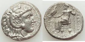 MACEDONIAN KINGDOM. Alexander III the Great (336-323 BC). AR tetradrachm (26mm, 16.56 gm, 12h). XF, porosity. Late lifetime-early posthumous issue of ...
