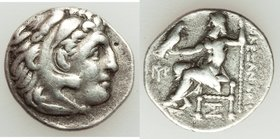 MACEDONIAN KINGDOM. Alexander III the Great (336-323 BC). AR drachm (19mm, 4.06 gm, 12h). Fine. Posthumous issue of Abydus (?), ca. 310-301 BC. Head o...