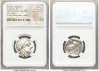 ATTICA. Athens. Ca. 440-404 BC. AR tetradrachm (24mm, 17.20 gm, 1h). NGC AU 5/5 - 5/5. Mid-mass coinage issue. Head of Athena right, wearing crested A...