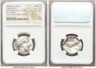 ATTICA. Athens. Ca. 440-404 BC. AR tetradrachm (24mm, 17.20 gm, 1h). NGC AU 5/5 - 4/5. Mid-mass coinage issue. Head of Athena right, wearing crested A...
