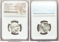 ATTICA. Athens. Ca. 440-404 BC. AR tetradrachm (25mm, 17.21 gm, 10h). NGC Choice XF 5/5 - 4/5. Mid-mass coinage issue. Head of Athena right, wearing c...