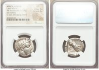 ATTICA. Athens. Ca. 440-404 BC. AR tetradrachm (24mm, 17.18 gm, 9h). NGC XF 4/5 - 4/5. Mid-mass coinage issue. Head of Athena right, wearing crested A...