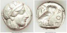 ATTICA. Athens. Ca. 440-404 BC. AR tetradrachm (24mm, 17.13 gm, 8h). About VF. Mid-mass coinage issue. Head of Athena right, wearing crested Attic hel...