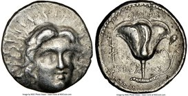 CARIAN ISLANDS. Rhodes. Ca. 230-205 BC. AR tetradrachm (24mm, 13.43 gm, 1h). NGC VF 4/5 - 3/5. Ca. mid-late 220s, Eucrates, magistrate. Radiate head o...