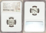 CILICIA. Mallus. Ca. 440-385 BC. AR stater (20mm, 11.17 gm, 7h). NGC XF 4/5 - 4/5. Bearded male, winged, in kneeling/running stance left, holding sola...