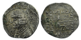 PARTHIAN EMPIRE. Orodes I, 90-77 BC. AR Drachm