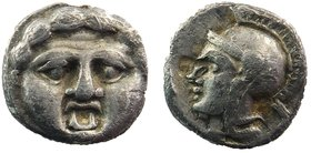 Pisidia, Selge AR Obol. Circa 350-300 BC. 