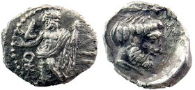 CILICIA. Tarsos. Tiribazos (Satrap of Lydia, 388-380). Obol. AR
