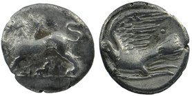 Sikyonia, Sikyon. Ca. 330/20-280 B.C. AR hemidrachm 