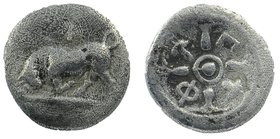 PHLIASIA, Phlious. Circa 400-350 BC. AR Trihemiobol