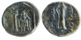 Perge , Pamphylia. AE17 (4.52 g), c. 50-30 BC.