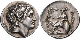 KINGS OF THRACE. Lysimachos, 305-281 BC. Tetradrachm (Silver, 30 mm, 16.99 g, 12 h), Pergamum, 287/6-282. Diademed head of Alexander III to right, ram...