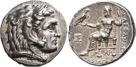 KINGS OF MACEDON. Alexander III 'the Great', 336-323 BC. Tetradrachm (Silver, 27 mm, 16.96 g, 9 h), uncertain mint in Greece or Macedonia, 310-275. He...