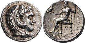 KINGS OF MACEDON. Philip III Arrhidaios, 323-317 BC. Tetradrachm (Silver, 26.5 mm, 17.16 g, 2 h), Babylon, c. 323-318/7. Head of Herakles to right, we...