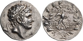 KINGS OF MACEDON. Perseus, 179-168 BC. Tetradrachm (Silver, 31.5 mm, 15.36 g, 10 h), of reduced Attic weight, Pella or Amphipolis, c. 171-168. Diademe...