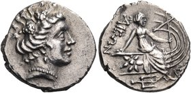 EUBOIA. Histiaia. Circa 3rd-2nd centuries BC. Tetrobol (Silver, 15 mm, 2.37 g, 3 h). Head of the nymph Histiaia to right, with her hair rolled and bou...