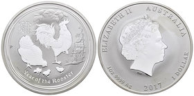Australia. Elizabeth II. 1 dollar. 2018. Perth. P. (Km-no cita). 31,10 g. Year of the Rooster. PR. Est...30,00.