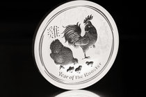 Australia. Elizabeth II. 10 dollars. 2017. P. Ag. 311,04 g. Year of the Rooster. PR. Est...250,00.