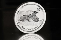 Australia. Elizabeth II. 30 dollars. 2008. P. (Km-1898). Ag. 1001,00 g. Year of the Rat. PR. Est...600,00.
