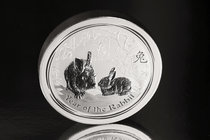 Australia. Elizabeth II. 30 dollars. 2011. P. (Km-1479). Ag. 1001,00 g. Year of the Rabbit. PR. Est...600,00.