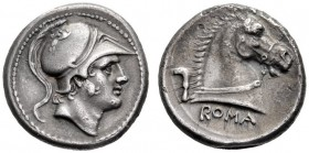 The Collection of Roman Republican Coins of a Student and his Mentor Part III   Didrachm circa 241-235, AR 6.33 g. Helmeted head of beardless Mars r....