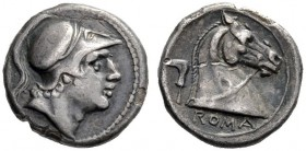 The Collection of Roman Republican Coins of a Student and his Mentor Part III   Drachm circa 241-235, AR 3.26 g. Helmeted head of beardless Mars r. R...