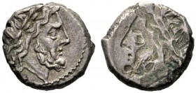 The Collection of Roman Republican Coins of a Student and his Mentor Part III   Brockage victoriatus after 218, AR 3.20 g. Laureate head of Jupiter r...