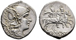 The Collection of Roman Republican Coins of a Student and his Mentor Part III   C. Al. Denarius,  Sicily circa 209-208, AR 4.33 g. Helmeted head of R...