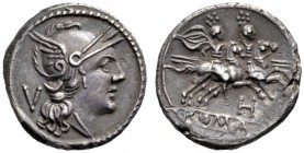 The Collection of Roman Republican Coins of a Student and his Mentor Part III   Quinarius, South East Italy circa 211-210, AR 2.27 g. Helmeted head o...