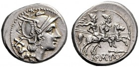 The Collection of Roman Republican Coins of a Student and his Mentor Part III   Denarius, South East Italy circa 209, AR 4.44 g. Helmeted head of Rom...