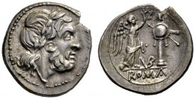 The Collection of Roman Republican Coins of a Student and his Mentor Part III   Victoriatus, uncertain mint circa 211-208, AR 3.21 g. Laureate head o...