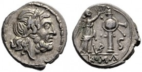 The Collection of Roman Republican Coins of a Student and his Mentor Part III   Half victoriatus, uncertain mint circa 211-208, AR 1.52 g. Laureate h...