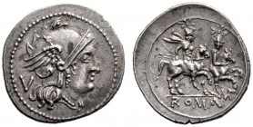 The Collection of Roman Republican Coins of a Student and his Mentor Part III   Quinarius, Apulia 211-210, AR 2.09 g. Helmeted head of Roma r., curl ...