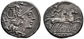 The Collection of Roman Republican Coins of a Student and his Mentor Part III   P. Cornelius Sulla.  Denarius 151, AR 3.83 g. Helmeted head of Roma r...