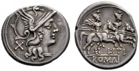The Collection of Roman Republican Coins of a Student and his Mentor Part III   Iti. Denarius 149, AR 3.89 g. Helmeted head of Roma r.; behind, X. Re...