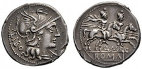 The Collection of Roman Republican Coins of a Student and his Mentor Part III   Q. Marcius Libo.  Denarius 148, AR 3.72 g. Helmeted head of Roma r., ...