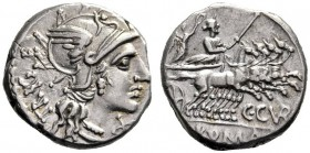 The Collection of Roman Republican Coins of a Student and his Mentor Part III   C. Curatius. Denarius 142, AR 3.61 g. Helmeted head of Roma r.; behin...