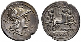 The Collection of Roman Republican Coins of a Student and his Mentor Part III   M. Aurelius Cotta.  Denarius 140, AR 3.73 g. Helmeted head of Roma r....