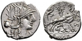 The Collection of Roman Republican Coins of a Student and his Mentor Part III   Sex. Pompeius.  Denarius 137, AR 4.03 g. Helmeted head of Roma r.; be...