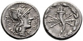 The Collection of Roman Republican Coins of a Student and his Mentor Part III   Q. Fabius Maximus. Denarius 127, AR 3.92 g. Q·MAX – ROMA Helmeted hea...
