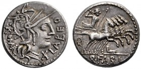 The Collection of Roman Republican Coins of a Student and his Mentor Part III   Q. Fabius Labeo. Denarius 124, AR 3.93 g. Helmeted head of Roma r.; b...