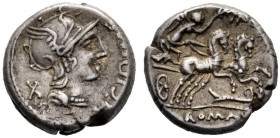 The Collection of Roman Republican Coins of a Student and his Mentor Part III   M. Cipius M. f. Denarius 115 or 114, AR 4.03 g. M·CIPI·[M·F] Helmeted...