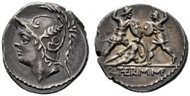 The Collection of Roman Republican Coins of a Student and his Mentor Part III   Q. Minucius M. f. Ter. Denarius 103, AR 3.91 g. Helmeted head of Mars...